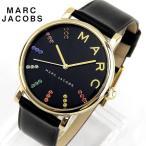 MARC JACOBS マーク ジェイコブス クラシック ボーイズサイズ レディース 腕時計 黒 ブラック 金 ゴールド マルチ レザー カジュアル MJ1591 海外モデル