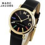 ショッピングMARC MARC JACOBS マーク ジェイコブス Classic クラシック レディース 腕時計 黒 ブラック 金 ゴールド マルチ 革バンド レザー カジュアル MJ1592 海外モデル
