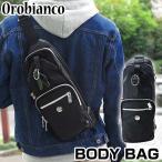 OROBIANCO オロビアンコ ボディバッグ ショルダーバッグ メンズ ANNIBALE-F ブラック 黒