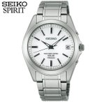 ショッピングSelection ポイント最大27倍 レビュー7年保証 セイコー スピリット 腕時計 SEIKO SPIRIT 電波ソーラー 電波 ソーラー チタン メンズ SBTM213 国内正規品 ホワイト バンド
