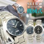 SEIKO セイコー 逆輸入 海外モデル 機械式 メカニカル 自動巻き セイコーファイブ SEIKO5 アナログ メンズ 腕時計 海外モデル 黒 ブラック グレー メタル