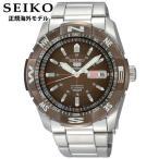 SEIKO5 セイコー5 SPORTS SNZJ09JC アナログ メカニカル自動巻 ブラウン茶 腕時計時計 メンズ オートマチック 正規海外モデル