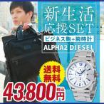 福袋 2017 TUMI トゥミ バッグ 鞄 TUMI-26108D2-BK DIESEL ディーゼル DZ4181 腕時計 メンズ ウォッチ ビジネスバッグ アルファ2 ALPHA2 ブラック シルバー