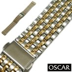 バンビ OSCAR(オスカー) メタルブレス コンビ 金属ベルト 時計ベルト 対応サイズ:16mm,17mm,18mm,19mm,20mm