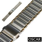 バンビ OSCAR(オスカー) メタルブレス コンビ 18mm 金属ベルト 時計ベルト