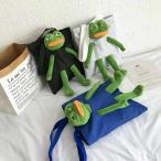 クリスマス 超人気 新品 可愛い カエルのぺぺ  おしゃれ トートバッグ  レディース プレゼント お誕生日 お祝い