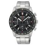 セイコー 逆輸入モデル SEIKO クロノグラフ 10気圧防水 SSB031P1 クオーツ 海外モデル 腕時計 メンズ ブラック