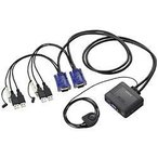 エレコム KVM-KUS パソコン切替器 USB 2台切替
