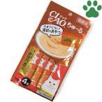 【1】 CIAO 猫用 おやつ ちゅーる まぐろ&タラバガニ 14g X 4本入り 国産 保存料不使用 いなば チャオ