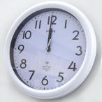 【40】 mag 電波 掛け時計 カブタイン ホワイト W-650 WH-Z ノア精密 連続秒針 電波時計 壁掛け 掛時計 アナログ