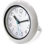 【25】 mag バスクロック バブルコート ホワイト FEW130 WH 置掛両用 ノア精密 防滴仕様 お風呂 時計 スタンド付き