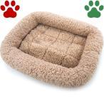 【25】 [定番] ペットプロ 超小型犬用/猫用 マイライフベッド SSサイズ 42x39cm ライトブラウン ベッド ふわふわ 暖か シンプル 冬