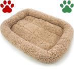 【35】 [定番] ペットプロ 超小型犬用/小型犬用/猫用 マイライフベッド Sサイズ 53x40cm ライトブラウン ベッド ふわふわ 暖か シンプル 冬
