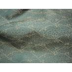 貴船 緞子 縹地に花網目緞子