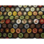 京西陣・金襴 生地 小丸吉祥(黒)【和柄生地 和柄 和風 よさこい 衣装 布 手芸 インテリア 祭り】
