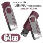 メール便発送 送料無料 USBメモリー64GB USBメモリ USBフラッシュメモリColor Turn E902 64GB Purple USBメモリ/USB2.0 64GB パープル