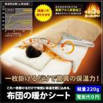 セール メール便発送 送料無料 布団の暖かシート 布団の掛けるだけ 驚異の保温力 寝具 アルミシート 毛布/布団の温かシート