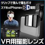 メール便発送 送料無料 VR撮影用3Dレンズ スマホに付けるだけ バーチャル 3Dゴーグル/VR撮影用3Dレンズ