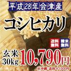 新米 平成28年 会津産 コシヒカリ 玄米 30kg ※沖縄は別途1000円