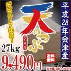 平成28年 会津産 天のつぶ 白米 27kg ※沖縄は別途1000円