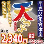平成28年 会津産 天のつぶ 白米 5kg ※九州は別途500円・沖縄は別途1000円