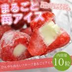 送料無料 練乳いちごアイス(10粒) ※まるごとイチゴアイス、苺アイス、いちご、アイス、バレンタイン、ギフト