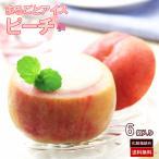 まるごと ピーチアイス 6個 セット 桃 モモ もも ピーチ シャーベット フルーツ 果物 器 ギフト イベント 誕生日 化粧箱 指定日対応 送料無料