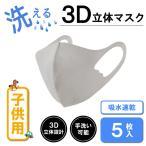 洗える マスク 子供 布 5枚 3D 繰り返し使用可能