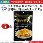 ★小物扱(1個312円税込)カモ井食品 俺の贅沢 燻製ローストいか&チーズ 43g ×5個