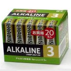 BPS 電池企画販売 単3形アルカリ乾電池 20本パック LR6BP-20S