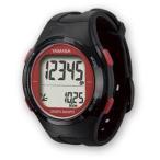 YAMASA ヤマサ 電波時計内蔵・腕時計型歩数計 ウォッチ万歩計 DEMPA MANPO TM-500 B/R ブラック/レッド