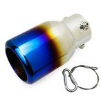 マツダ アクセラスポーツ BL5FW型 ステンレス マフラーカッター チタン調 真円 ボルト付 TOKUTOYO(トクトヨ)