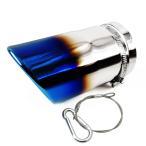 マフラーカッター 汎用 シングル チタン焼き 排水口付き TOKUTOYO(トクトヨ)(クーポン配布中)