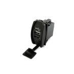 汎用 2USBポート 蓋付き 5V 3.1A スイッチホールカバー 車載用 増設USBポート スマホ充電器 LED点灯 青 TOKUTOYO(トクトヨ)(クーポン配布中)