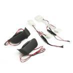 特価 ノア/ヴォクシー80系 インサイドドアハンドル LEDイルミネーション インテリアパネル アイスブルー TOKUTOYO(トクトヨ)