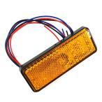 ネコポス無料 24V 車 LEDリフレクターウインカー連動 反射板 黄 長型 1個 TOKUTOYO(トクトヨ)