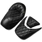 ホンダ FORZA フォルツァMF08 黒色レザー調(艶消し) ダイヤカットシート3点Set