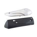 ホンダ リード110/EX 純正タイプ マフラーカバー/プロテクター 新品 銀色/黒色 2点セット TOKUTOYO(トクトヨ)