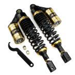 マジェスティ125/シグナスX/BW'S用 タンク付き リア サスペンション 32cm ゴールド/黒 左右セット TOKUTOYO(トクトヨ)
