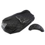 シートカバー 張替え用 黒 レザー調 スカイウェイブ250 CJ44A/CJ45A/CJ46A2点セット TOKUTOYO(トクトヨ)(クーポン配布中)