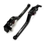 ブレーキ&クラッチ レバーセット アルミ 削り出し 6段階 ビレットレバー 黒 スズキ GSR750/ABSに TOKUTOYO(トクトヨ)
