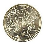 2002ワールドカップ記念500円ニッケル黄銅貨(ユーラシア、アフリカ) 極美品