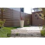 樹脂フェンス|スタイルフェンス L2000(単品部材)【人工ウッド 目隠し】