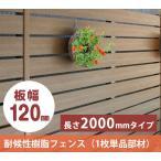 樹脂フェンス|【ディーズフェンス アルファウッド 横張りタイプ】 幅120mm(1枚単品)【木目調 目隠し】