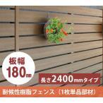 樹脂フェンス|【ディーズフェンス アルファウッド 横張りタイプ】 幅180mm(1枚単品)【木目調 目隠し】