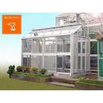 アルミ温室/2段サッシタイプ(A-3タイプ:間口2000×奥行5546×棟高2657mm、3.3坪)3ミリガラス