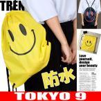 バッグ レディース ユニセックス メンズ ナップサック シンプル 防水 ニコちゃん  TOKYO9