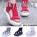 (TOKYO9)シューズ スニーカー レディース  原宿系 個性的  HIPHOP ヒップホップ ストリート系 ダンス 衣装 シンプル ニット