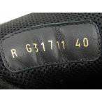 シャネル CHANEL レザー スニーカー シューズ 靴 ゴールド ブラック 黒 #40 G31711 メンズ 送料無料 【中古】 101397594
