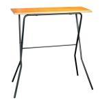 折りたたみテーブル ハイテーブル カウンターテーブル 簡易テーブル 作業台 折りたたむと、わずか奥行10cm 耐荷重30kg FCT-93T 日本国産